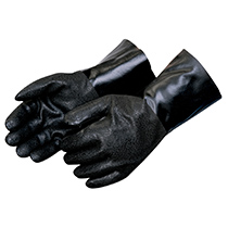 Liberty Glove Rough finish black PVC - Jersey lined #2433