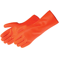 Liberty Glove Sandy finish fluorescent orange PVC #2544