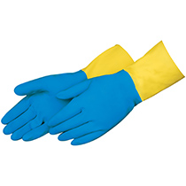 Liberty Glove Blue neoprene over yellow latex #2570