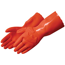 Liberty Glove Sandy Finish Fluorescent Orange Double Dipped PVC #2584