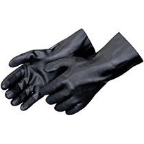 Liberty Glove Sandy finish black PVC - interlock lined - #2623