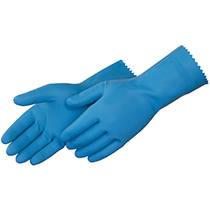 Liberty Glove BLue latex canners - crinkle finish - #2886