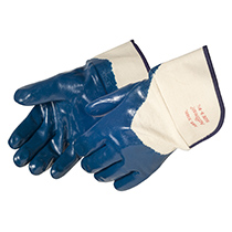 Liberty Glove Smooth finish blue nitrile -safety cuff - #9360