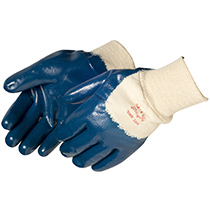 Liberty Glove Smooth Finish Blue Nitrile Coated with Knit Wrist - #9363