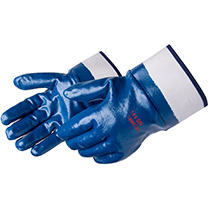 Liberty Glove Smooth finish blue nitrile, with Safety Cuff - #9460