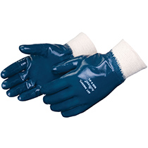 Liberty Glove Smooth finish blue nitrile - knit wrist - #9463SP