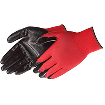 Liberty Glove Q-Grip® Ultra-Thin Nitrile Palm Coated (red nylon shell) - #4631Q_RD