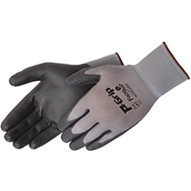 Liberty Glove Q-Grip® Black polyurethane - gray shell - #4639G_BK