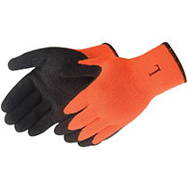 Liberty Glove A-Grip® Textured Black Latex Coated (Hi-Viz orange)- #4729