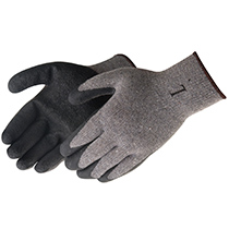 Liberty Glove A-Grip® Textured Black Latex Coated (Gray) - #4729SP