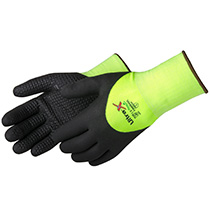 Liberty Glove Ultra X-Grip® Gray micro-foam nitrile 3/4 back coated with dots