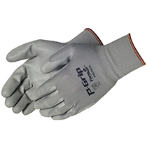 Liberty Glove Q-Grip® Black polyurethane - gray shell - #P4639G