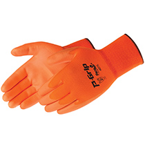 Liberty Glove Polyurethane coated with 13-gauge high visible orange polyester shell glove - #SP4637