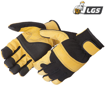 Liberty Glove Lightning Gear® GoldenKnight™ golden grain pigskin mechanic glove - #0912