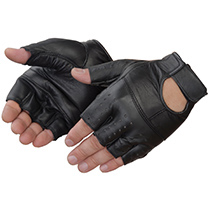Lightning Gear® Black goatskin weight lifting glove #6887BK_FL